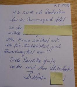 Schreiben Bruckmühl